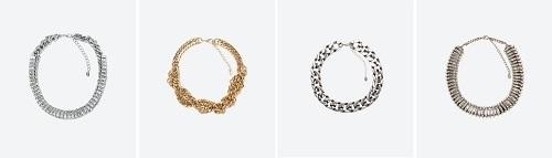 Collares de cadenas de Zara online