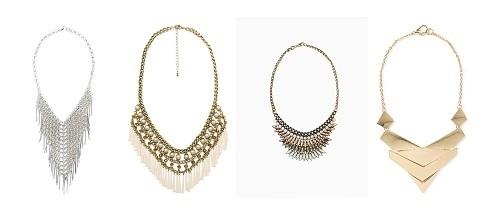 Collares babero de fiesta de Zara online