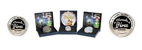 Monedas de oro y plata del Ratón Pérez