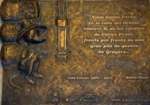 Placa conmemorativa del Ratoncito Pérez