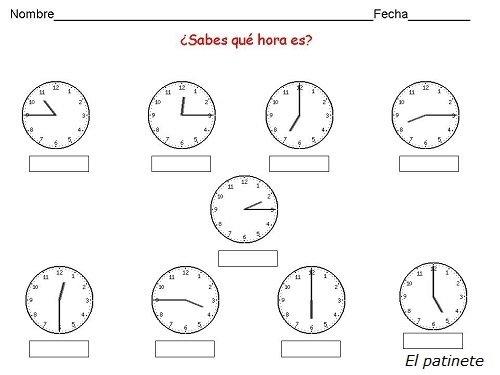 Aprender las horas