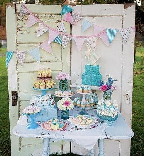 Mesa dulce para Baby Shower