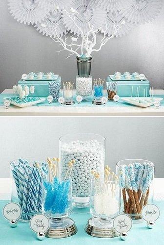 Menú para Baby Shower en tonos azules
