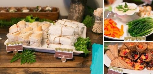 Buffet salado para Baby Shower