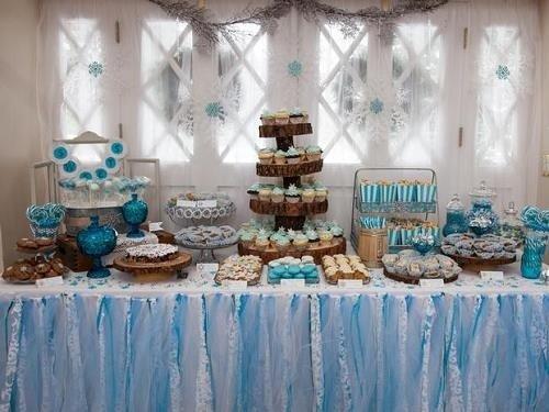Fiesta de Baby Shower en tonos azules