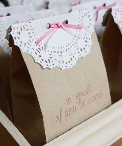 Bolsas decoradas de Baby Shower