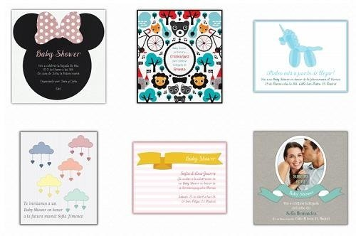 Invitaciones descargables para Baby Shower