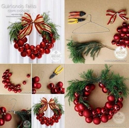 Decoraci n navide a coronas de navidad para tu puerta for Adorno navidad puerta entrada