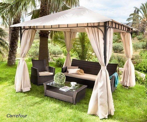 Muebles de terraza y jard n decoraci n de exteriores for Carrefour pergolas jardin