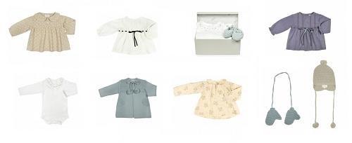 Prendas para bebé de la colección primavera-verano de Bonnet à Pompom