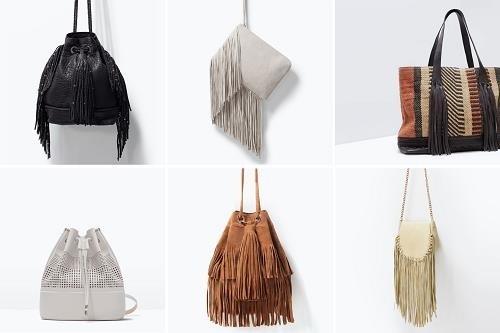 Bolsos de flecos de Zara Online