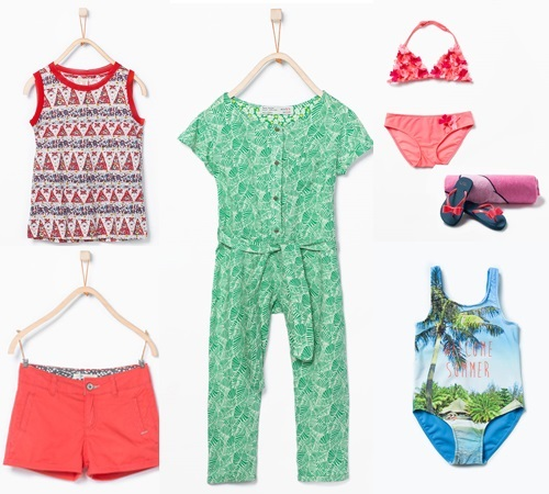Colección niños Zara Kids primavera verano. Playa y baño