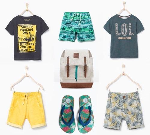 Colección niño Zara Kids primavera verano. Playa y baño