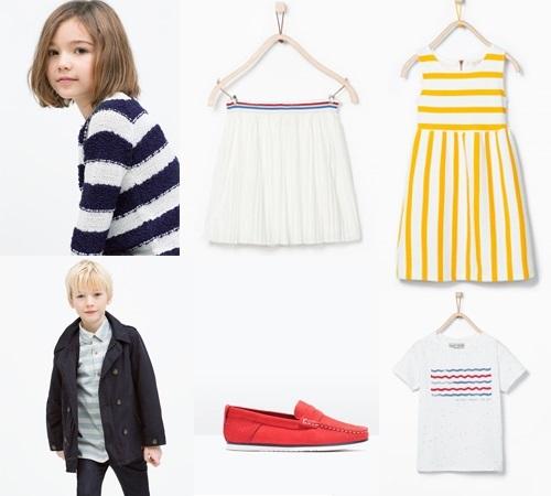 Zara Kids primavera verano. Estilo marinero