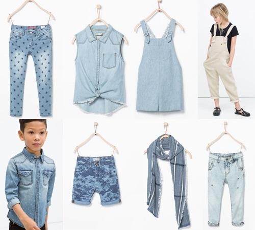 Zara Kids niños primavera verano. Denim