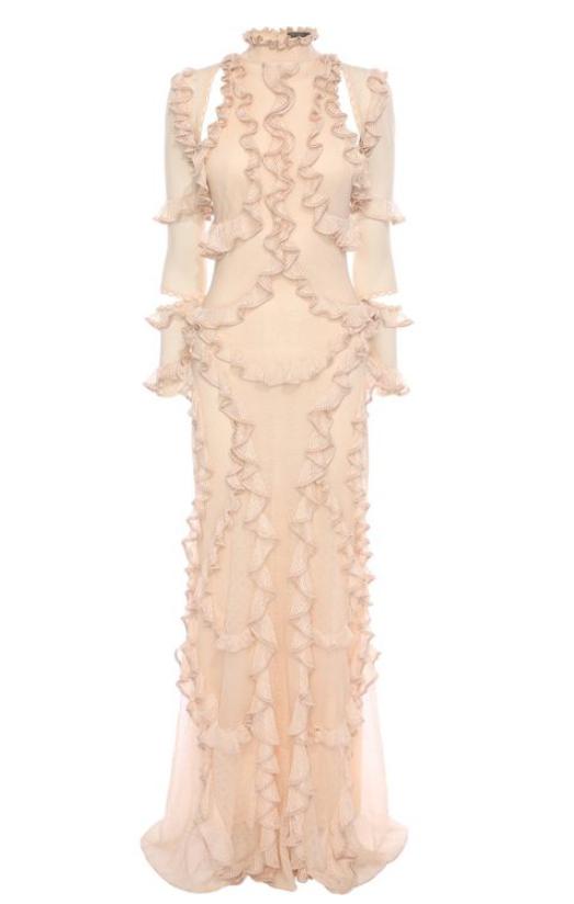 Vestido corte romántico de Alexander Mcqueen