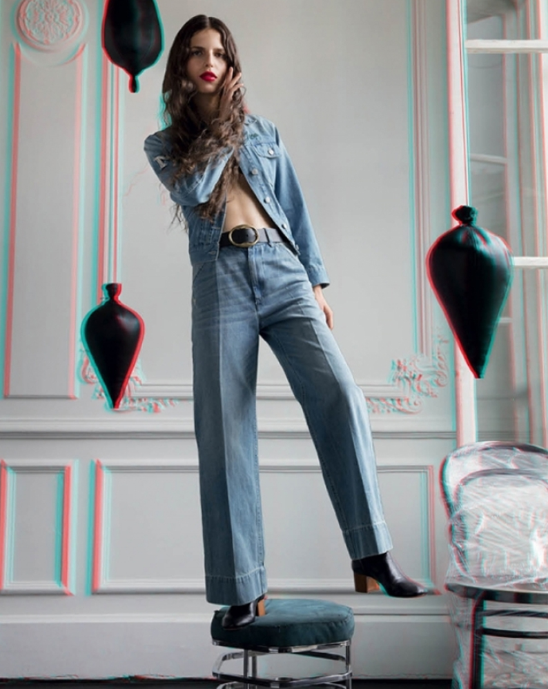 Total look denim de Isabel Marant