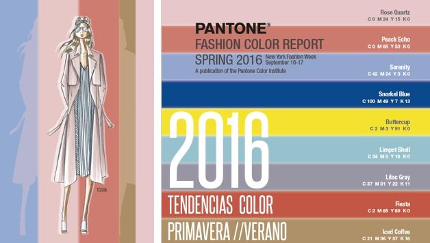 Paleta de colores Pantone para primavera verano 2016