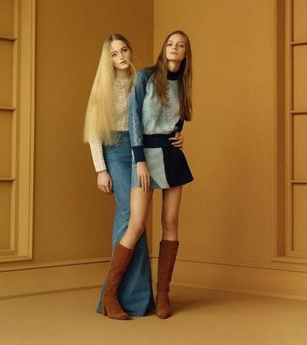 Faldas vaqueras de Zara online