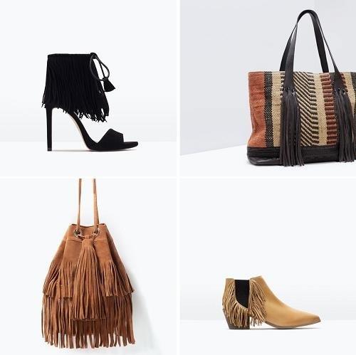 Bolsos y zapatos con flecos de la nueva temporada Primavera-Verano de Zara