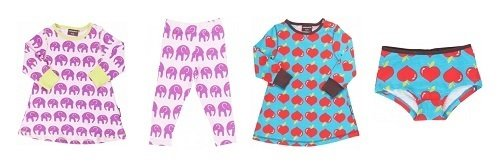 Pijama y ropa interior para niñas de la tienda online de Köttbullar & Mjölk
