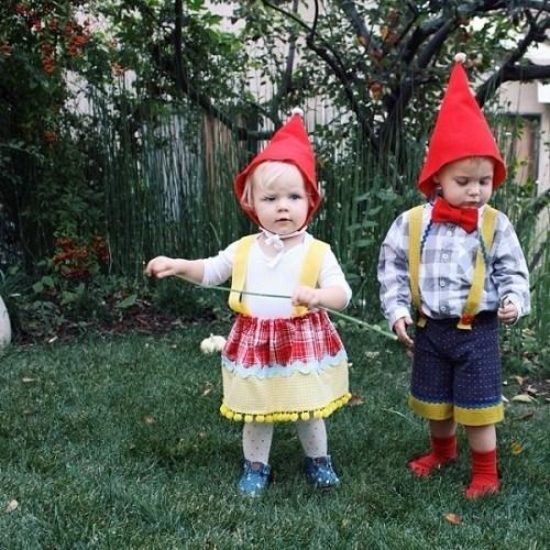 Disfraces caseros de gnomo para bebés