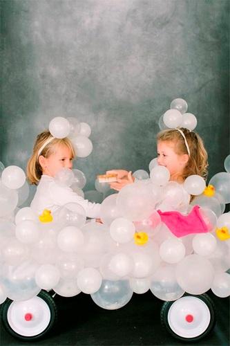 Tutorial para disfraz de baño de burbujas de Style me Pretty