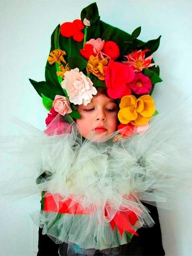 Tutorial de disfraz de ramo de flores en Aesthetic Coutburst