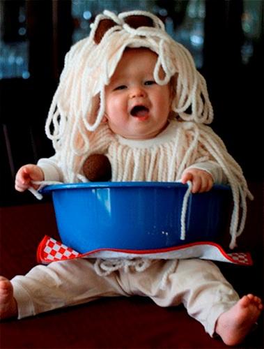 Tutorial para disfraz de espaguetis de Parenting
