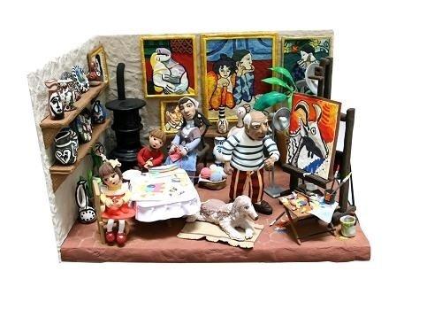 Estudio del pintor Pablo Picasso de arcilla Jumping Clay
