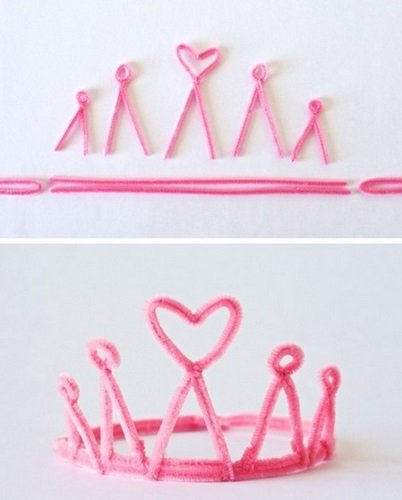 Tutorial para crear tiaras de limpiadores de pipa de One Charming Party