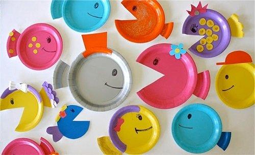 Manualidades con platos de papel
