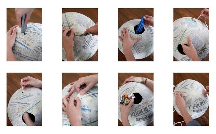 Preparación piñata