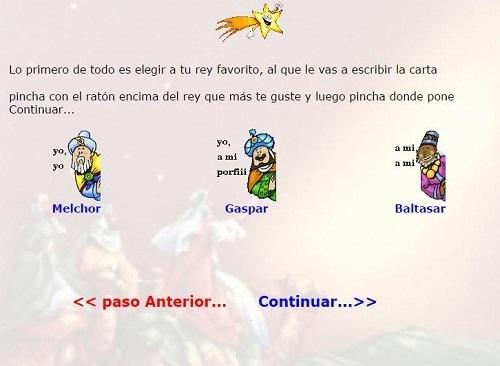 Webs para escribir la carta a Papá Noel o a los Reyes Magos