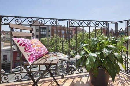 Habitación con terraza en Barcelona