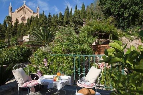 Terraza del Jardí d'Artá, en Mallorca