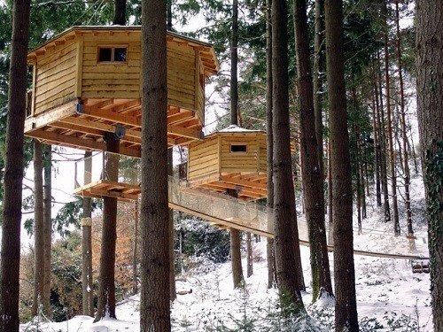 Hotel temático para niños Cabanes als arbres, en el Pirineo