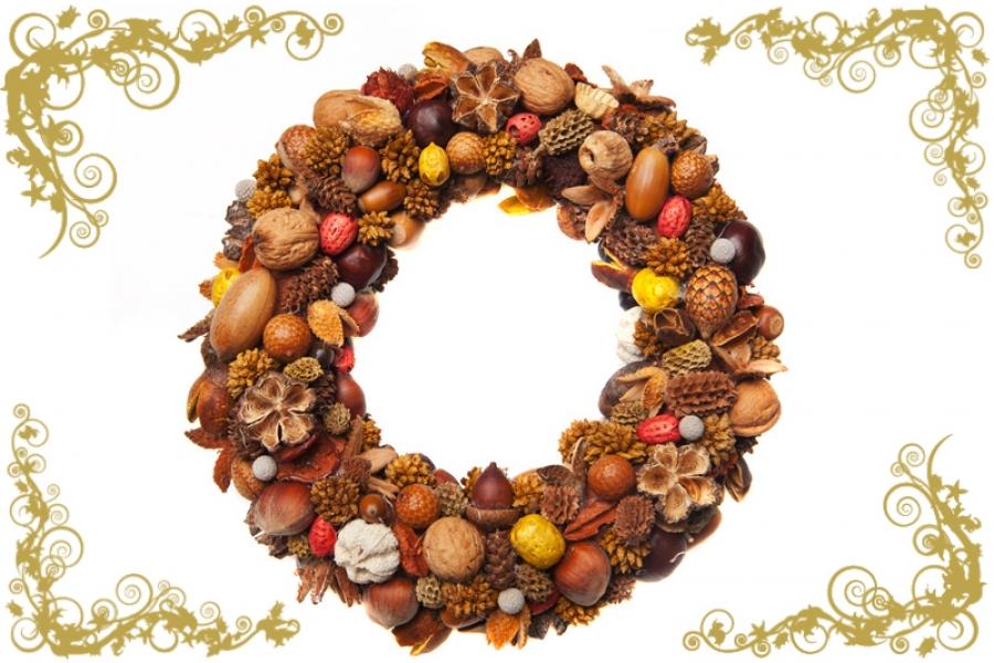 Decoraci n navide a coronas de navidad para tu puerta - Coronas navidenas faciles ...